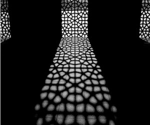 black and white, light, and pattern image