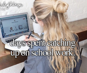 school and justgirlythings image