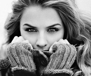 beauty, people, and black and white image