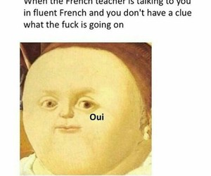 french, funny, and meme image