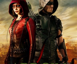 arrow, oliver, and thea image