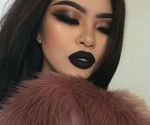 makeup, beauty, and black image