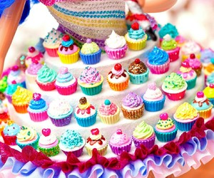 cupcake, barbie, and dress image