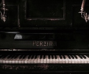 piano, music, and black image