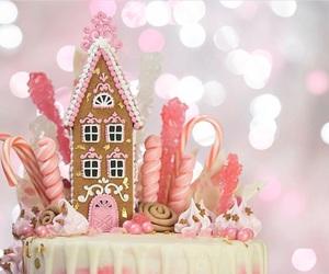 cake, christmas lights, and sugarplum image