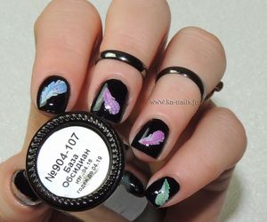 noir, nailart, and masura image