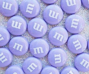 purple, aesthetic, and m&m image