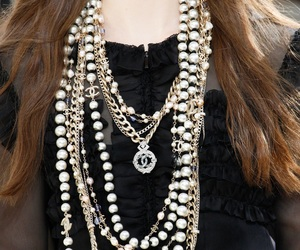 chanel, pearls, and fw16 image