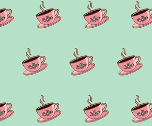 coffee, green, and pattern image