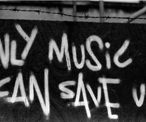 music, save, and black and white image