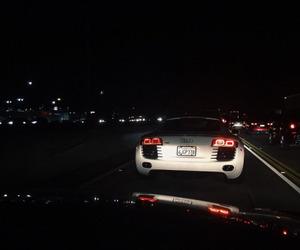 car, dark, and night image