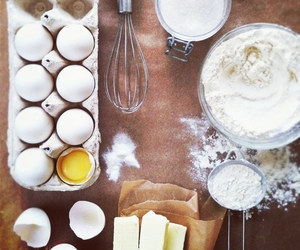 cake, flour, and square format image