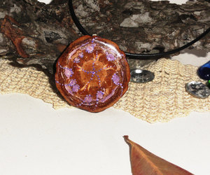 etsy, pine cone necklace, and pinecone pendant image
