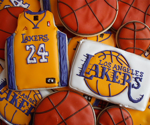 Basketball, Cookies, and lakers image