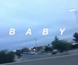 baby, blue, and grunge image