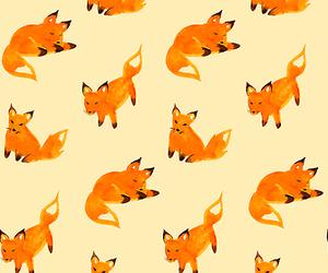 fox, orange, and wallpaper image