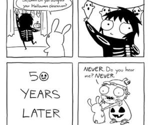 Halloween, comic, and sarah andersen image