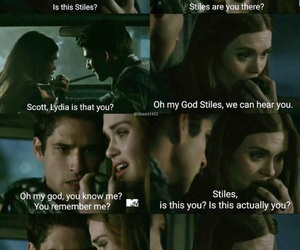 teenwolf, stydia, and lydiamartin image