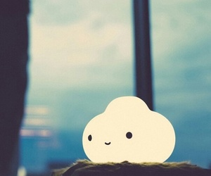 cute, light, and cloud image