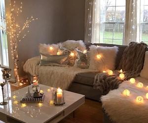 home, candle, and christmas image