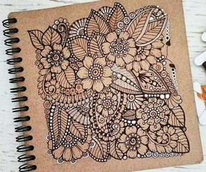 beautiful, draws, and flowers image