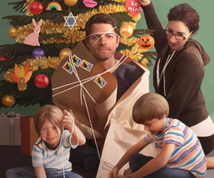 christmas, supernatural, and castiel image
