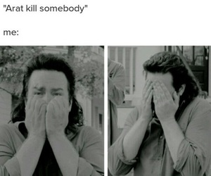 the walking dead and eugene porter image