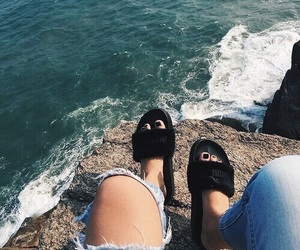 puma, ocean, and shoes image