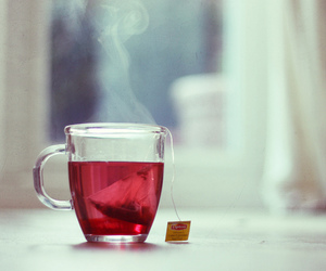 red and tea image
