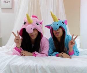 unicorn, friends, and bff image