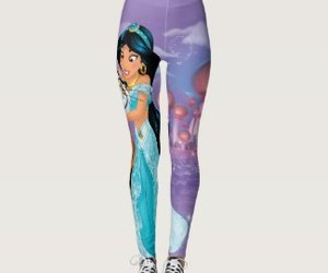 disney, leggings, and princess jasmine image