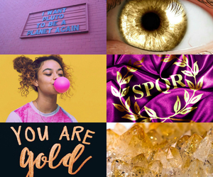 aesthetic, gold, and purple image