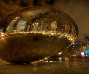 bean, city lights, and chicago image