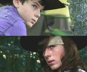 carl, chandler riggs, and crush image