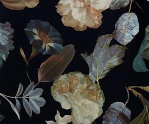 flowers, theme, and dark image