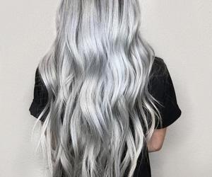 hair, hairstyle, and long hair image