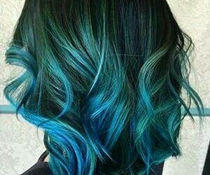 hair, blue hair, and color image