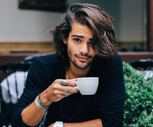 boy, guy, and coffee image