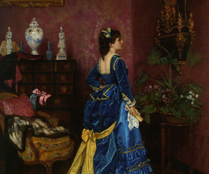 art, auguste toulmouche, and dress image