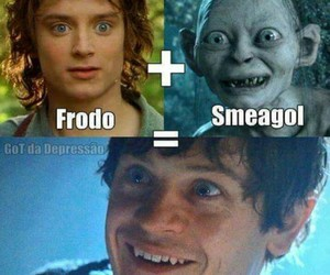 game of thrones, frodo, and smeagol image