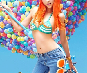 beautiful, anime cosplay, and nami cosplay image
