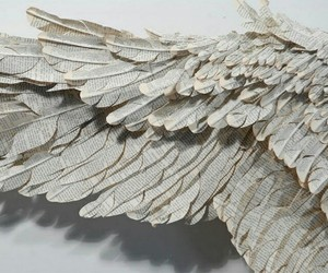 wings, angel, and white image