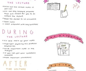 lecture, notes, and study image