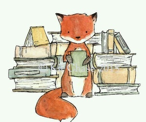art, book, and fox image