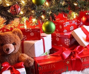 christmas, winter, and presents image