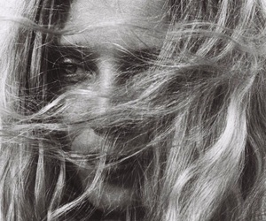 hair, wind, and woman image
