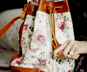 bag, pretty, and vintage image