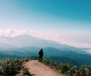 beautiful, morning, and mountain image