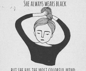 black, quotes, and mind image