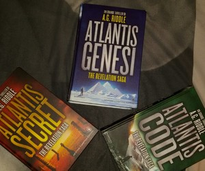 book, atlantis saga, and atlantis genesi image